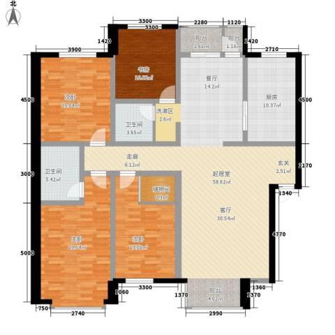 巨海城4室0厅2卫1厨187.00㎡户型图