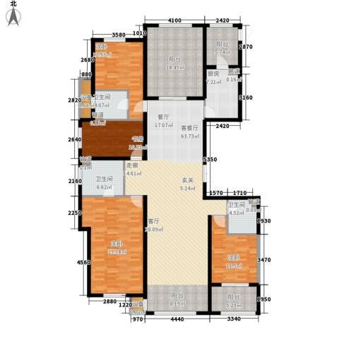 宝宇天邑澜湾4室1厅3卫1厨242.00㎡户型图