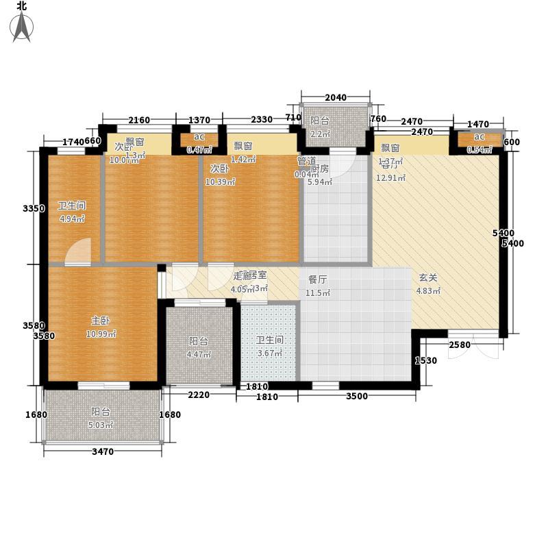 岭地金居111.00㎡岭地金居户型图一期D-1户型3室2厅2卫户型3室2厅2卫