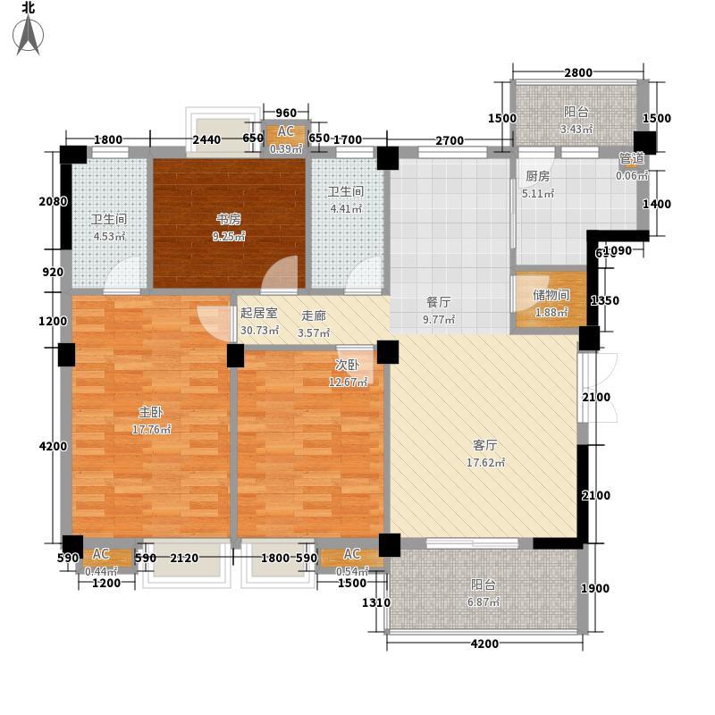 中庚国际华府中庚国际华府户型图3室2厅2卫1厨户型10室