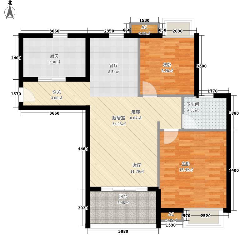 水岸星城第四期97.00㎡水岸星城第四期2室户型2室