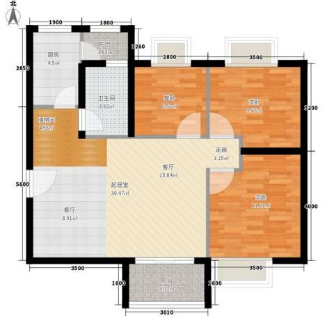 东圃东兴楼3室0厅1卫1厨80.00㎡户型图