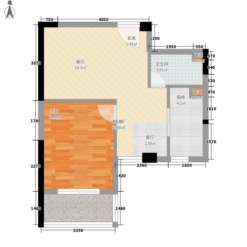 蓉上坊59.92㎡蓉上坊户型图B3-3型1室1厅1卫1厨户型1室1厅1卫1厨