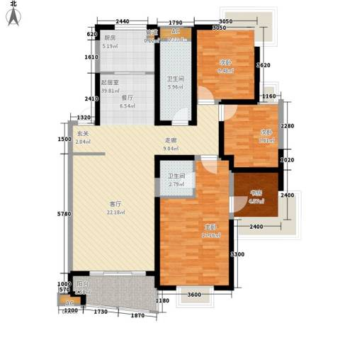 盛岸花园三期4室0厅2卫1厨114.81㎡户型图