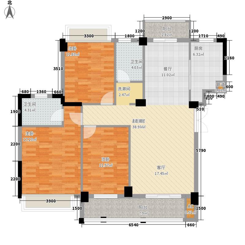 城开汉口秀园139.70㎡城开汉口秀园户型图4号楼D1户型3室2厅2卫1厨户型3室2厅2卫1厨