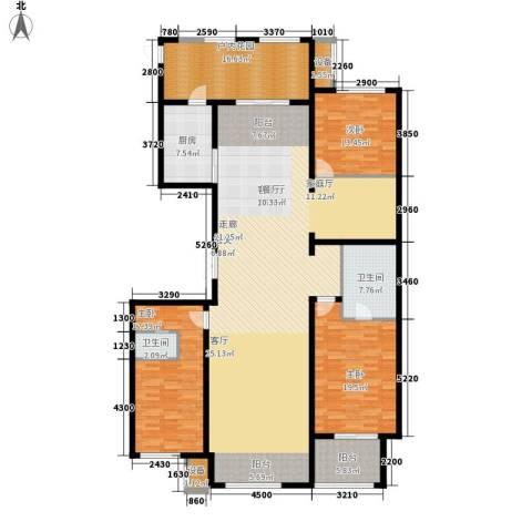 宝宇天邑澜湾3室1厅2卫1厨233.00㎡户型图