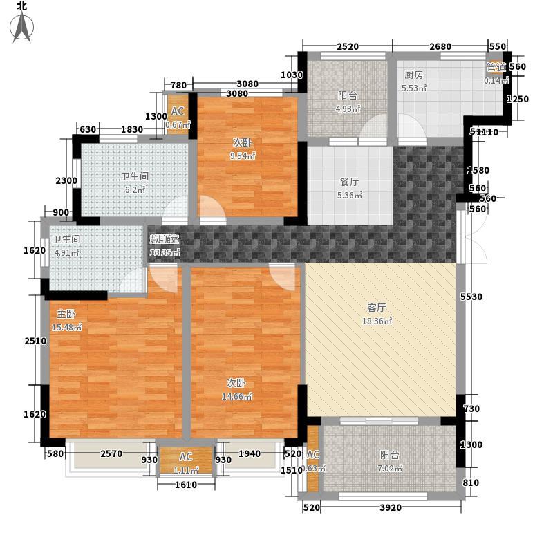公园置尚114.57㎡一期3、4号楼标准层A-5户型