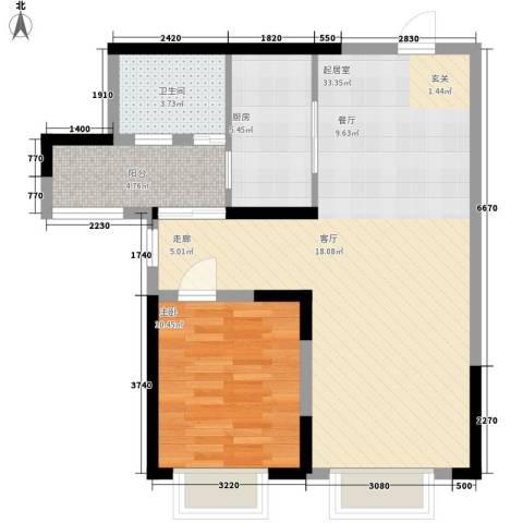 童话里二期1室0厅1卫1厨78.00㎡户型图