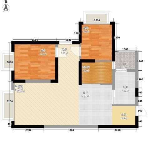 童话里二期2室0厅1卫1厨90.00㎡户型图
