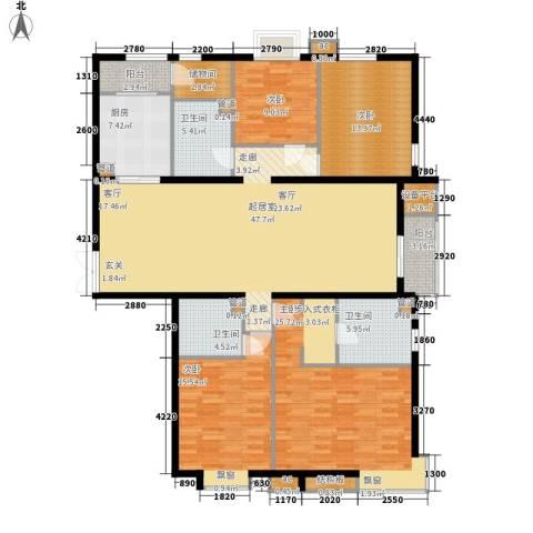 绿荫芳邻4室0厅3卫1厨173.00㎡户型图