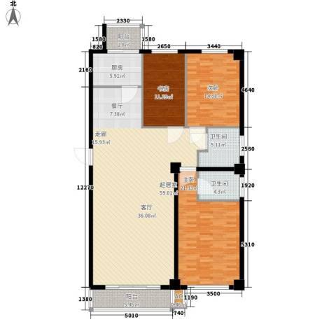 大众花园3室0厅2卫1厨146.00㎡户型图