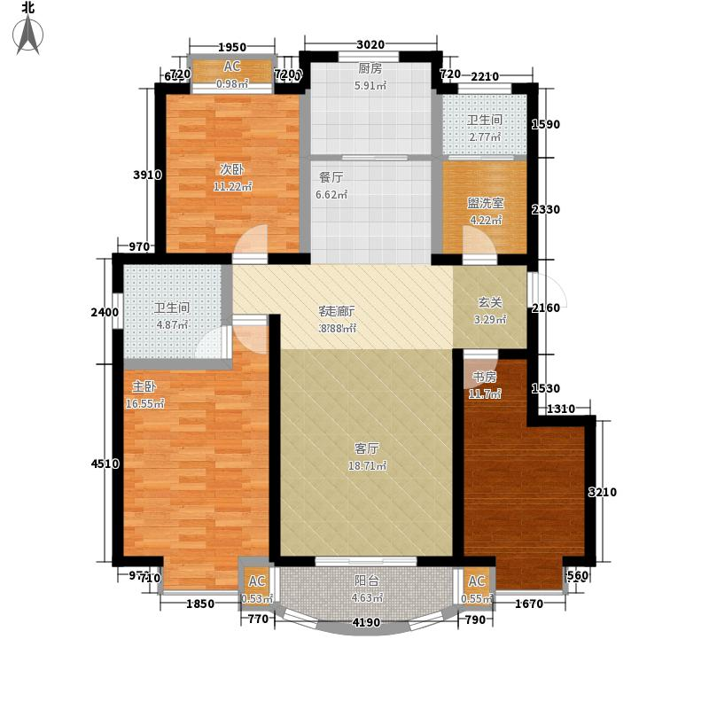 鼎旺90社区Q户型 3室2厅2卫户型3室2厅2卫