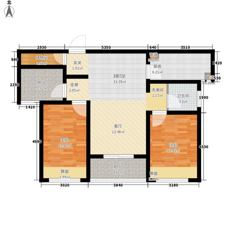 祝福红城89.99㎡四期B-52+1户型3室2厅