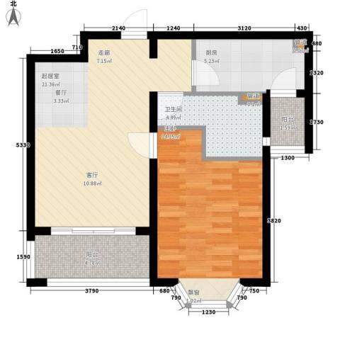 浦江东旭公寓1室0厅1卫1厨75.00㎡户型图