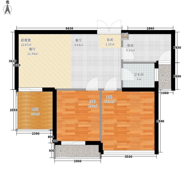 岭地金居72.00㎡岭地金居户型图一期C-2户型2室2厅1卫户型2室2厅1卫