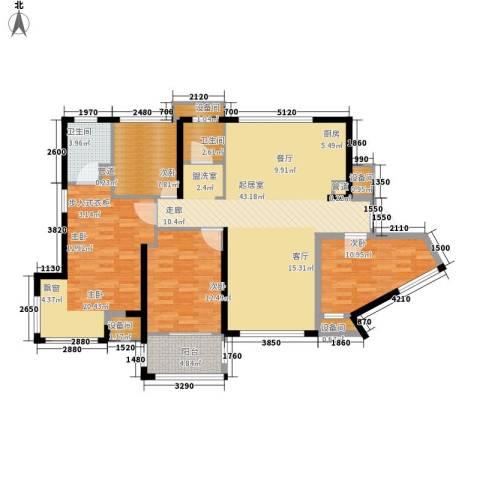 维一星城・原山苑4室0厅2卫0厨110.54㎡户型图