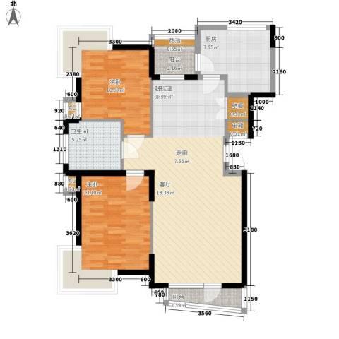 天嘉水晶城2室0厅1卫1厨88.00㎡户型图