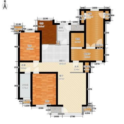 咖啡小镇二期3室1厅1卫1厨158.00㎡户型图