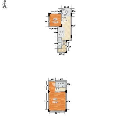 亿洲百旺郦城2室0厅2卫0厨83.00㎡户型图