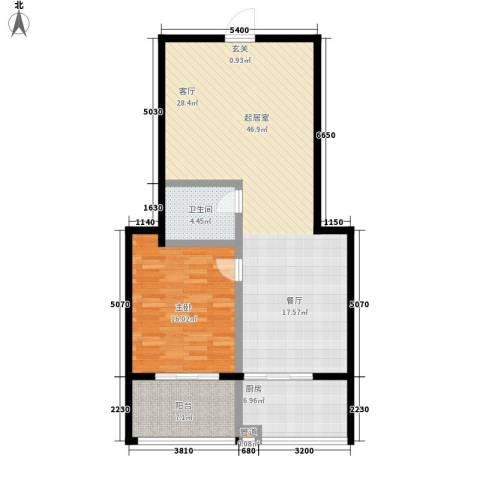 金石鑫小区1室0厅1卫1厨92.00㎡户型图