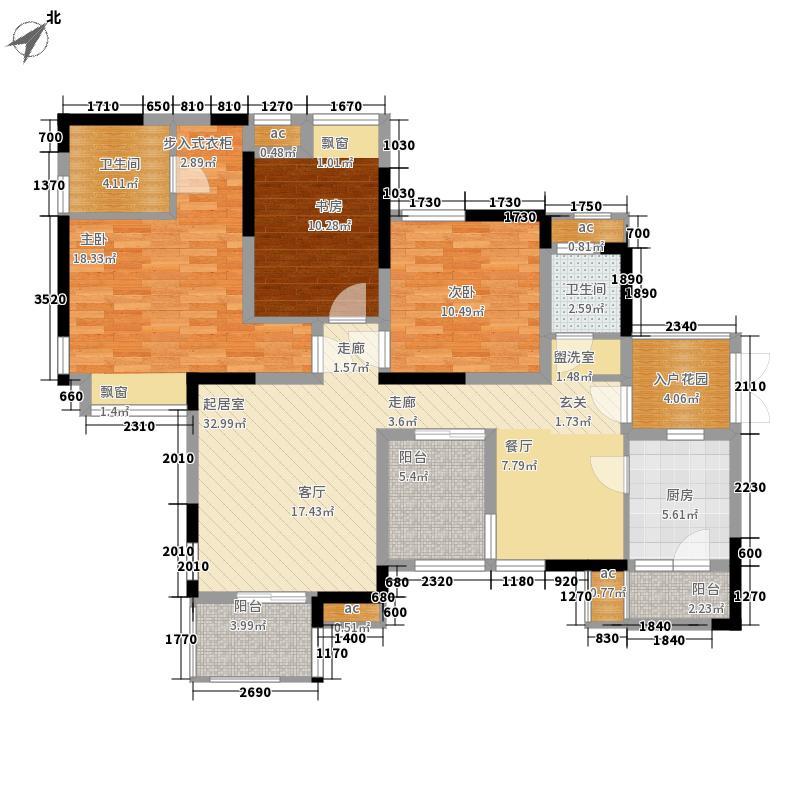 国兴北岸江山B2B2-5户型3室2厅