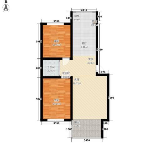 德意名典2室1厅1卫0厨93.00㎡户型图