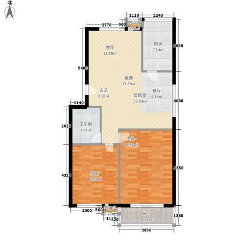 康宁家园2室0厅1卫1厨105.00㎡户型图