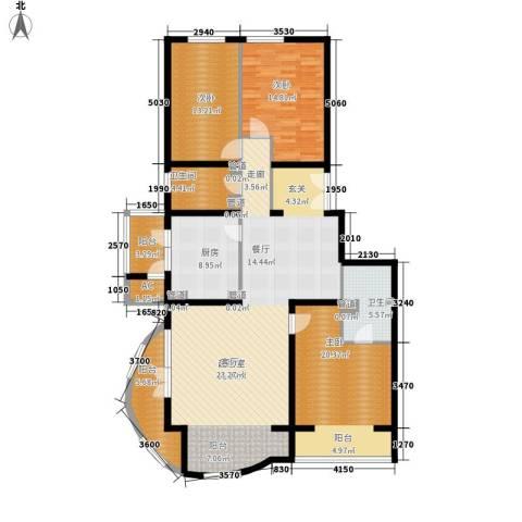耕天下3室0厅2卫1厨148.00㎡户型图