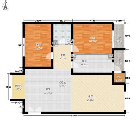 耕天下2室0厅1卫1厨128.00㎡户型图
