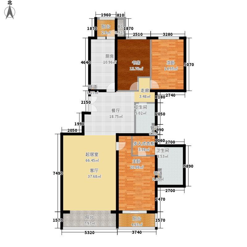 耕天下172.40㎡户型3室2厅2卫1厨