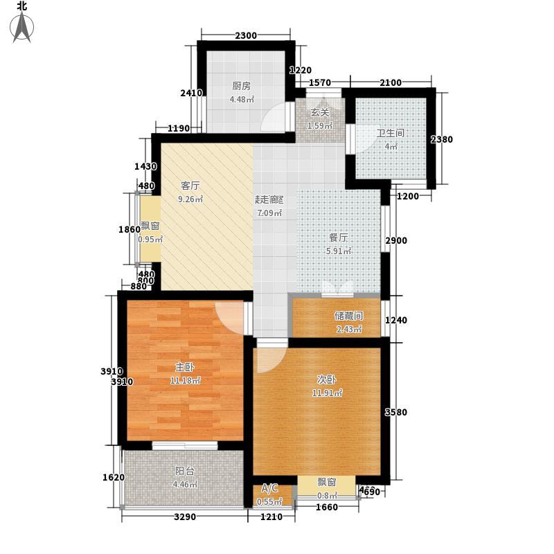 时丰中央公园91.32㎡时丰中央公园户型图13#B户型2室2厅1卫1厨户型2室2厅1卫1厨