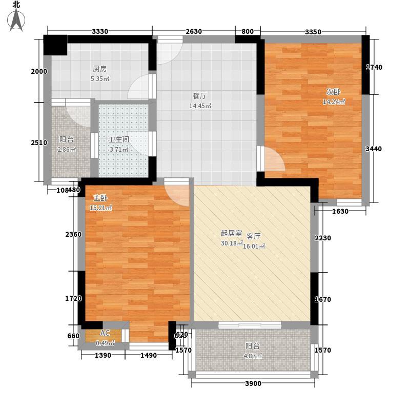长城天一家园94.94㎡长城天一家园户型图天一8#S3户型94.94㎡2房2厅1卫2室2厅1卫1厨户型2室2厅1卫1厨