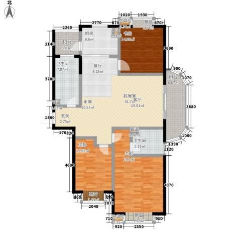 东亚马赛公馆3室0厅2卫1厨184.00㎡户型图