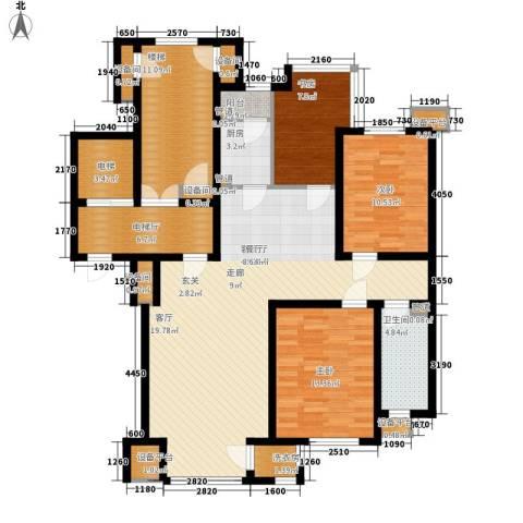 咖啡小镇二期3室1厅1卫1厨159.00㎡户型图