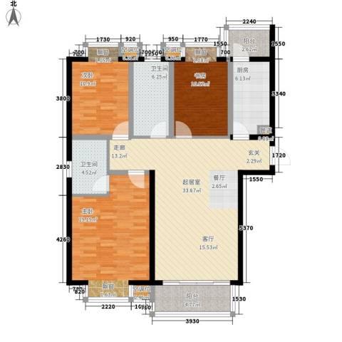 东亚马赛公馆3室0厅2卫1厨144.00㎡户型图