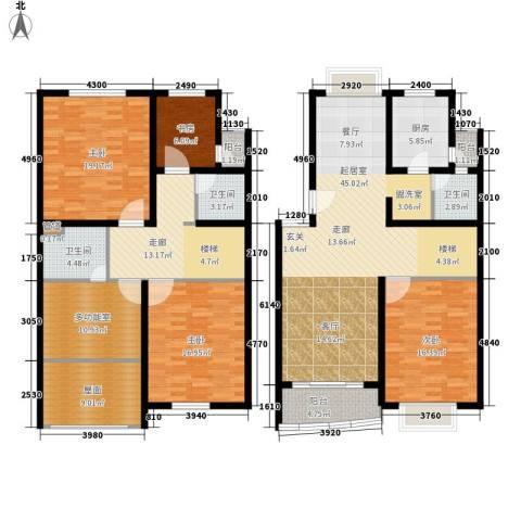 鸿发家园4室0厅3卫1厨180.00㎡户型图