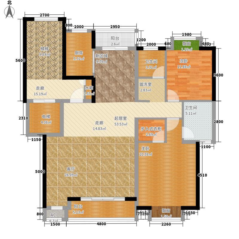 佳泰家花园215.93㎡三期BY户型5室2厅3卫