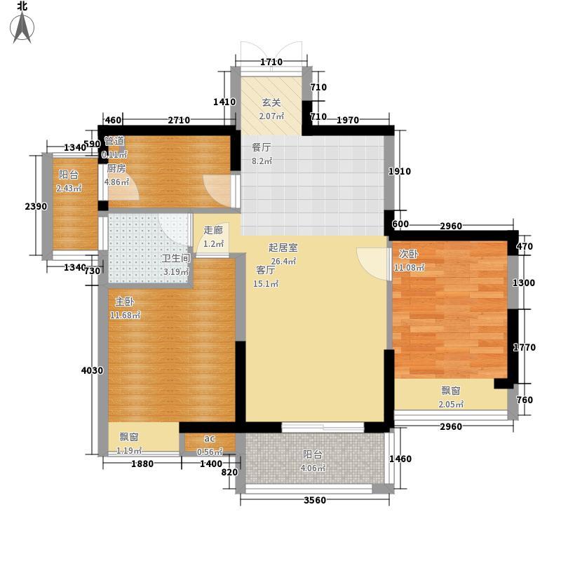 春风与湖66.24㎡2期13号楼标准层E7户型