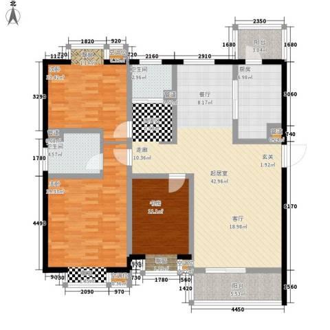 东亚马赛公馆3室0厅2卫1厨161.00㎡户型图