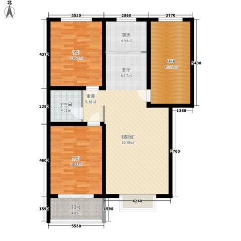 五里华都2室0厅1卫1厨100.62㎡户型图