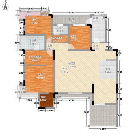 金科天籁城紫园3室0厅2卫1厨159.96㎡户型图