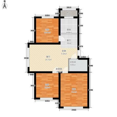 丰和西郡3室0厅1卫1厨106.00㎡户型图
