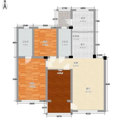 丰和西郡3室0厅2卫1厨141.00㎡户型图