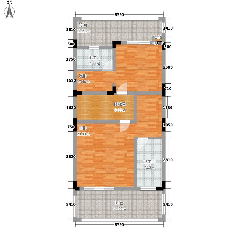保利湖心岛2.00㎡1-14号楼A二层户型5室2厅4卫1厨