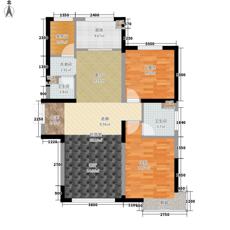 中冶玉带湾103.08㎡玉带湾4号楼B户型3室2厅