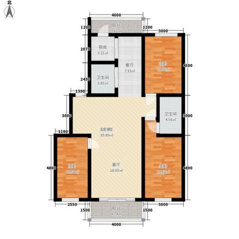 宏胜花园3室0厅2卫1厨105.00㎡户型图