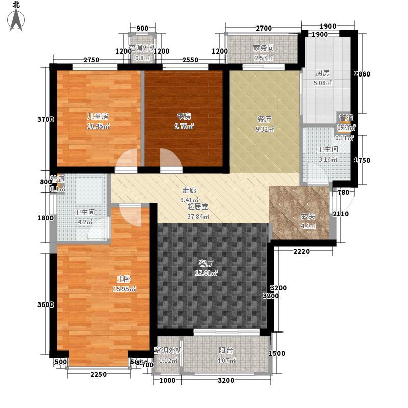 中冶玉带湾139.17㎡玉带湾7号楼C户型3室2厅