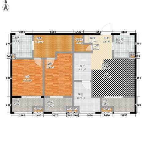 东亚马赛公馆2室0厅2卫1厨232.00㎡户型图
