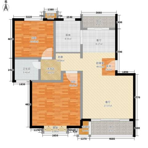 桃浦二村2室0厅1卫1厨167.00㎡户型图