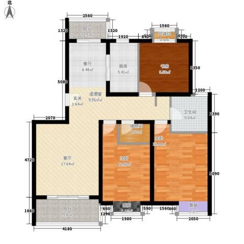 桃浦二村3室0厅1卫1厨138.00㎡户型图